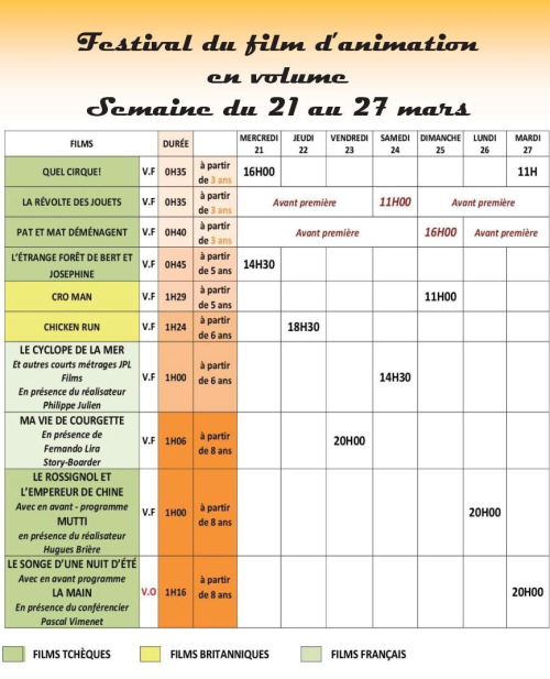 Grille programme INTERVALLE